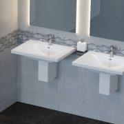 Semi pedestal bathroom basins 6 - Bathroom Depot Leeds