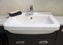 semi recessed basins